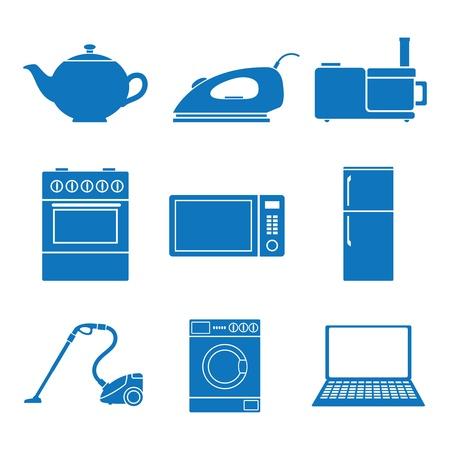 Vector illustratie pictogrammen op apparaten