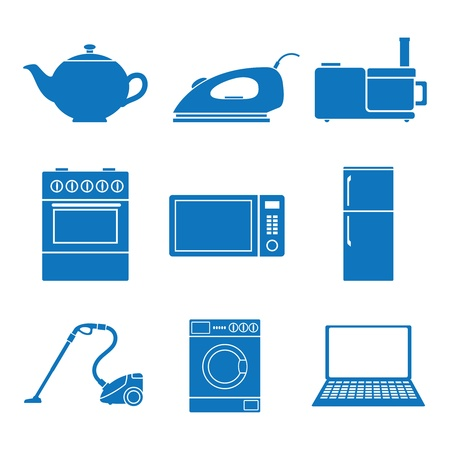 Vector illustration icons on appliances Vector