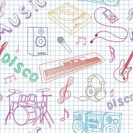 Vector illustration on music Vector