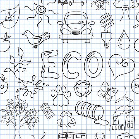 Vector illustration of the images on the theme of ecology Vector