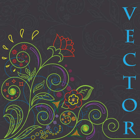 vector floral background illyustatsiya Vector