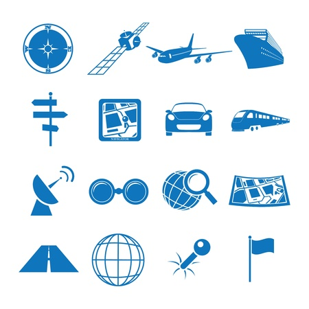 Vector illustratie pictogrammen op de navigatie