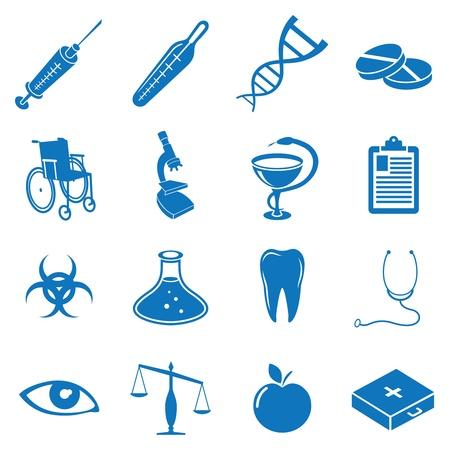 Vector illustratie pictogrammen op de geneeskunde