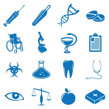 medical icons: Vector illustration icons on medicine Illustration