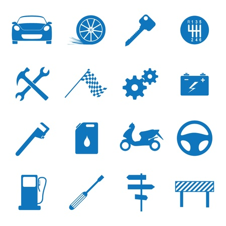 truck repair: Vector illustration icons on the mechanics