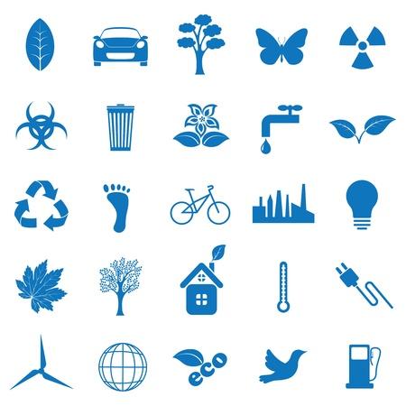 Vector illustratie pictogrammen op ecologie