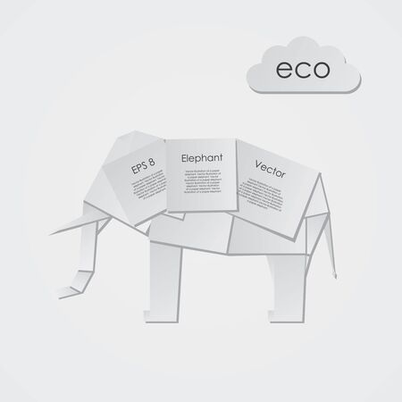 Vector illustration of a paper elephant Stock Vector - 12792992