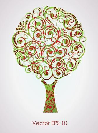 he said: Vetornaya illustration of a tree Illustration