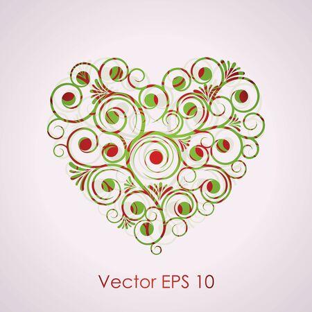 red swirl: Vector illustration of heart