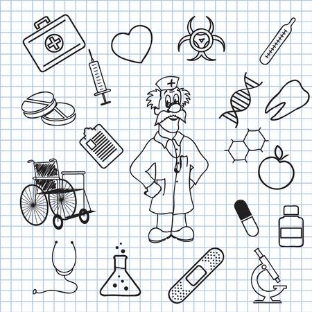 medical signs:  illustration on the theme of Medicine Illustration