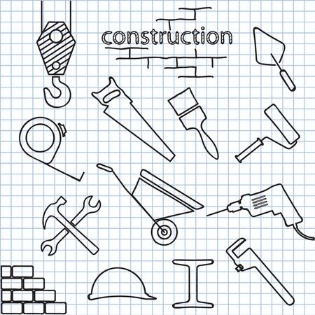 hammer drill: Vector illustration tools