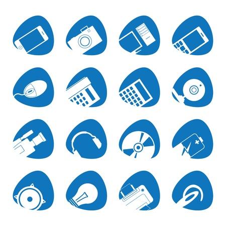 illustratie van de iconen van de elektronica