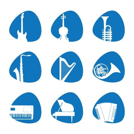 musica clasica: ilustración del instrumento musical iconos