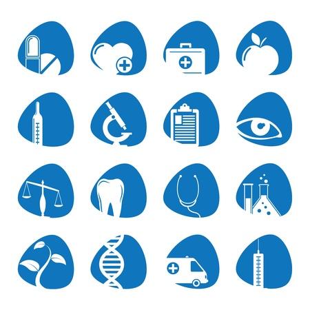 medische kunst: illustratie pictogrammen op de geneeskunde Stock Illustratie
