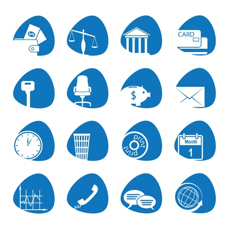 Vector illustration icons on the economy Stock Vector - 13081189