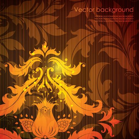 illustration of bright floral background Vector