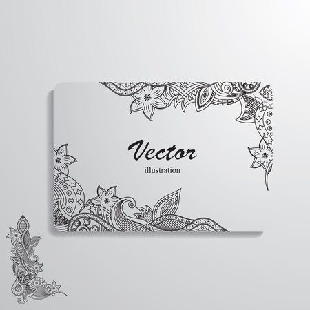 illustration of cards decorated with a complex pattern