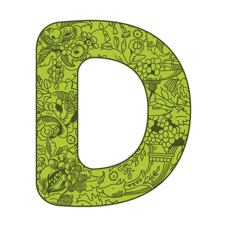 illustration of letters decorated with floral pattern Stock Vector - 13313855