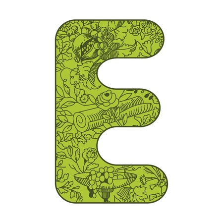 illustration of letters decorated with floral pattern Vector