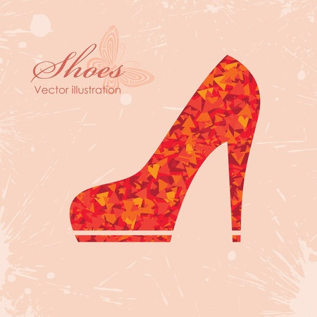 woman legs: Vector illustration of icon shoes