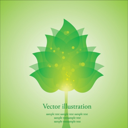 crown of light: illustration of a stylized tree Illustration