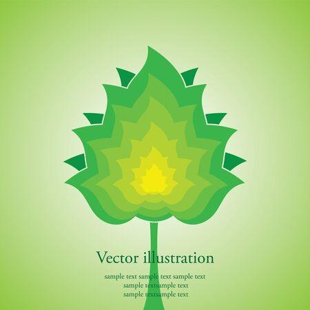 Vector illustration of a tree Vector