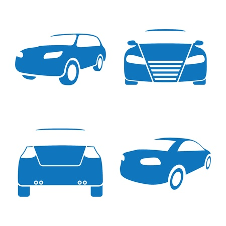 Vector illustration of car icons on a white background Stock Vector - 13657099