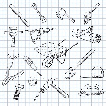 vector illustration set of tools Vector