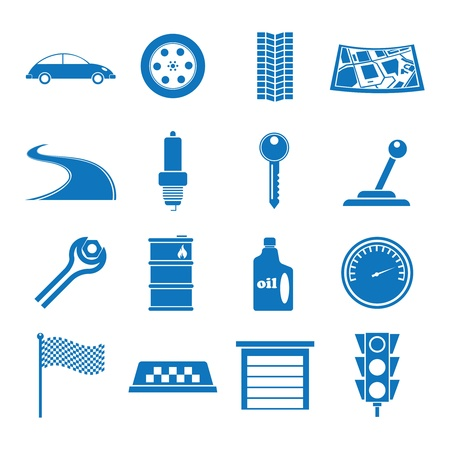 Vector illustration icons on the Tamu Car Stock Vector - 13786334