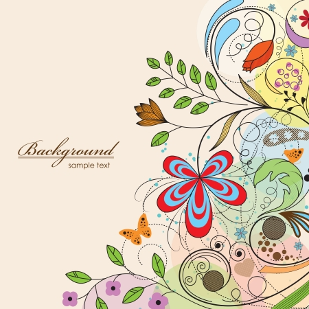illustration of floral background Vector
