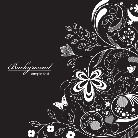 illustration of floral background Vector