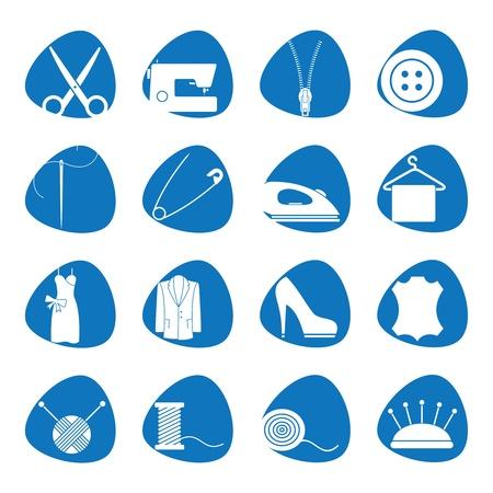 Ilustración de los iconos de coser Foto de archivo - 13925834