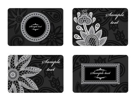 gothic revival style: Illustration of a set of business cards business cards