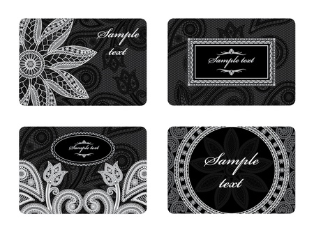 Illustration of a set of business cards business cards Vector