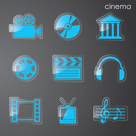 Vector illyutratsiya icons on film Vector