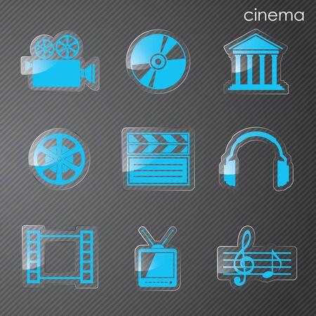 Vector illyutratsiya icons on film Vector