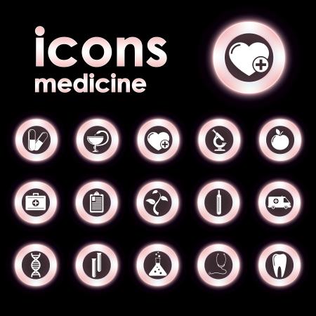 Vector illustration icons on medicine Vector