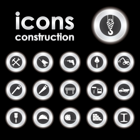 hard hat icon: Vector illustration on the theme of building