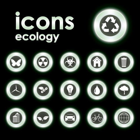 Vector illustration icons on ecology Stock Vector - 14114687