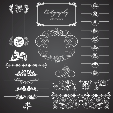 Vector illustration of Calligraphy items Vector