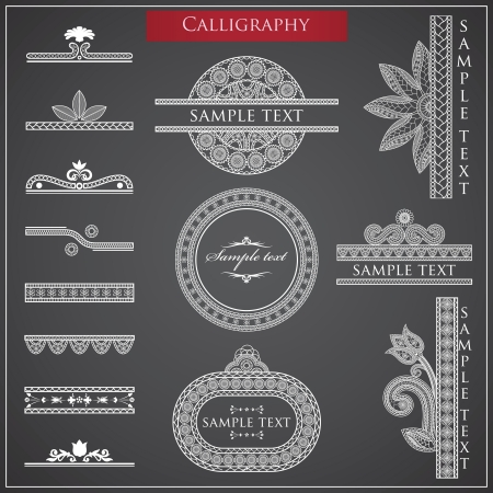 Vector illustration of Calligraphy items Stock Vector - 14212320