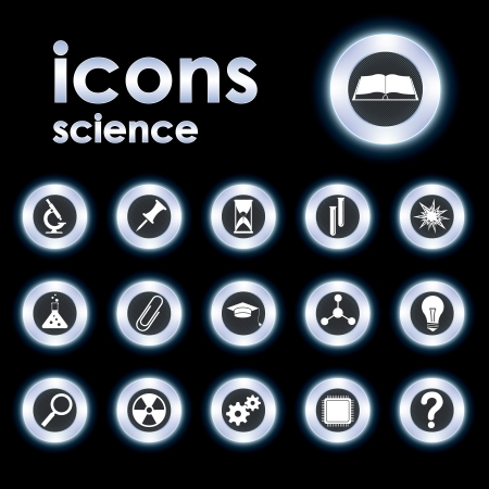 Vector illustration icons on science Stock Vector - 14212297