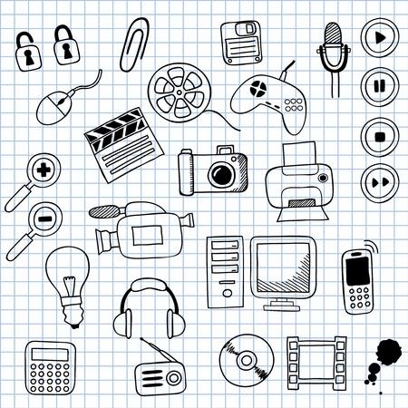 remote lock: iconos ilustraci�n en la electr�nica