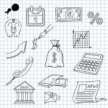 ink sketch: illustrazione di immagini per l'economia