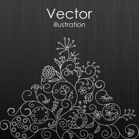 illustration of floral background Stok Fotoğraf - 14510428