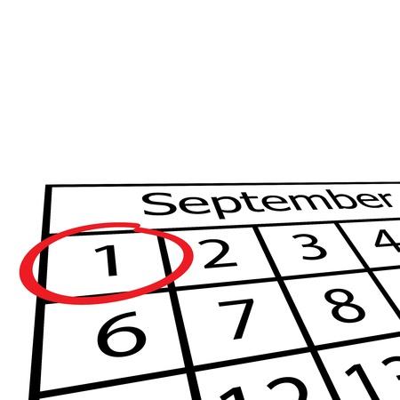 calendario escolar: ilustración del calendario