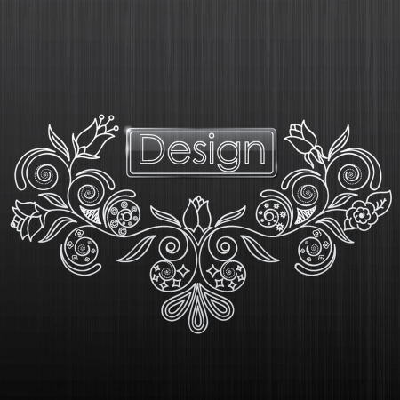 tracery: illustration of floral pattern on a black background