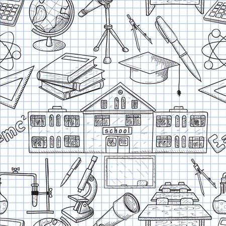naadloze textuur op school Stock Illustratie