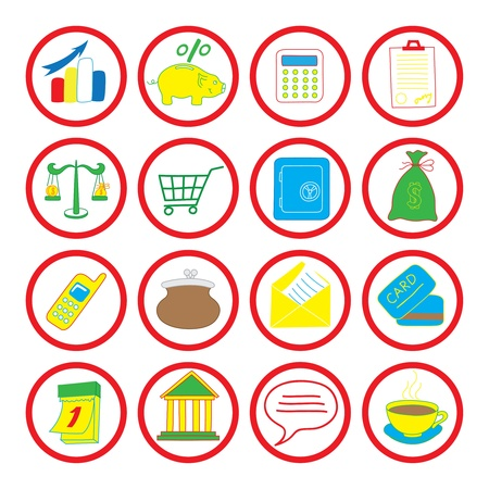 illustration of icons on the economy Vector