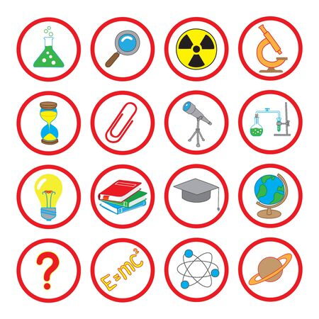 illustration of icons on the topic of science Stock Vector - 14983665